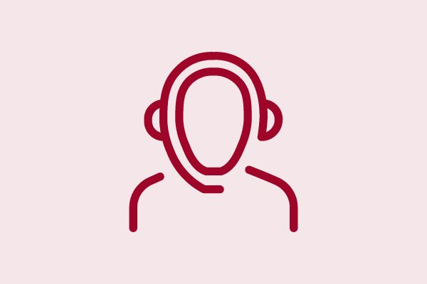 Icon einer Person mit Headset